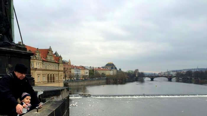 Beautiful view of Prague form the fort