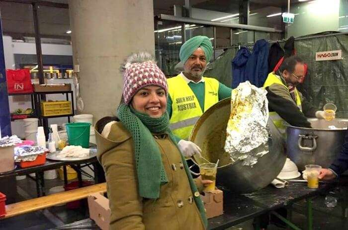 Homely Langar on the Vienna Railway Station