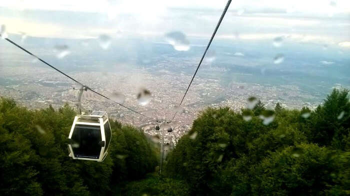 On the cable car ride at the Green Bursa