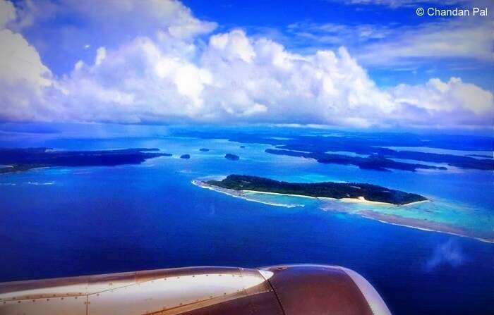 Andaman islands as seen from the plane