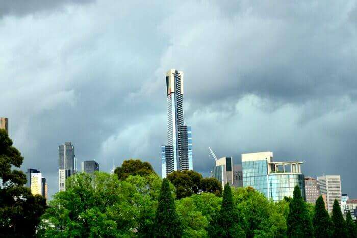A beautiful view of the Melbourne Skyline