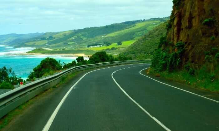 Stunning drive on the Great Ocean Road