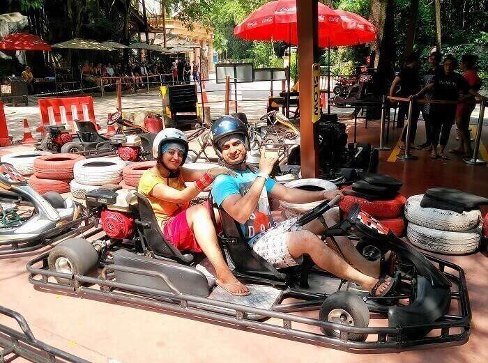 Go Karting at Sunway Lagoon