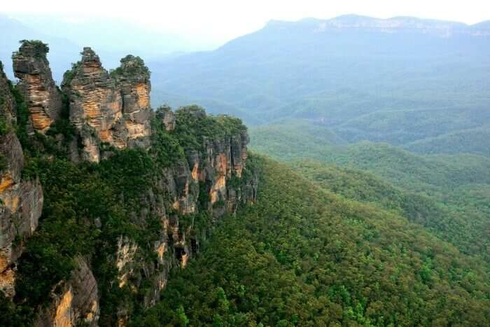 Beautiful view of the three sisters in Australia