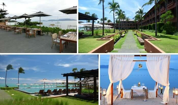 A collage of many views from the Hansar Samui Resort & Spa