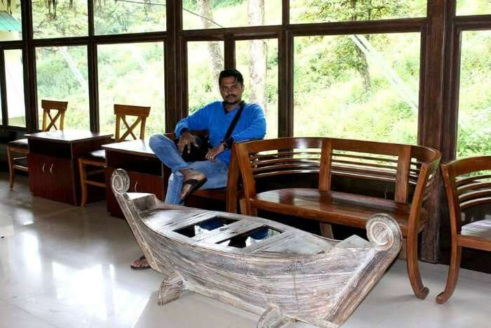 Yateen at the Deep Woods Hotel in Kerala