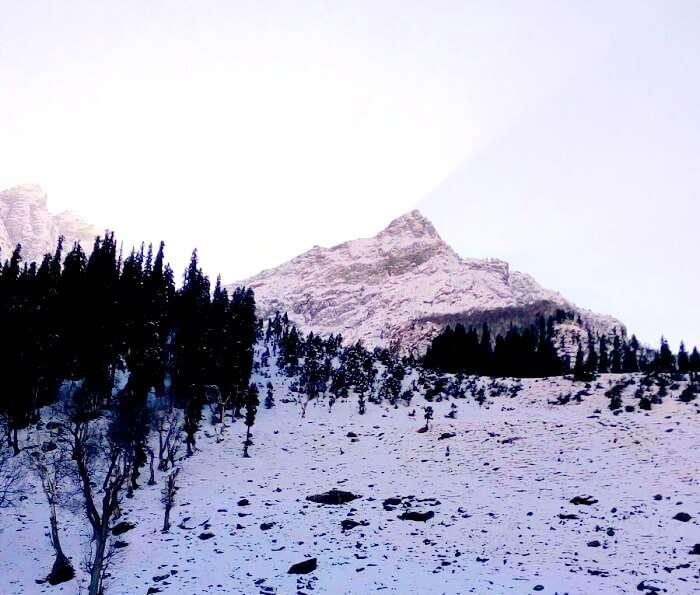 Snow clad mountains of Kashmir
