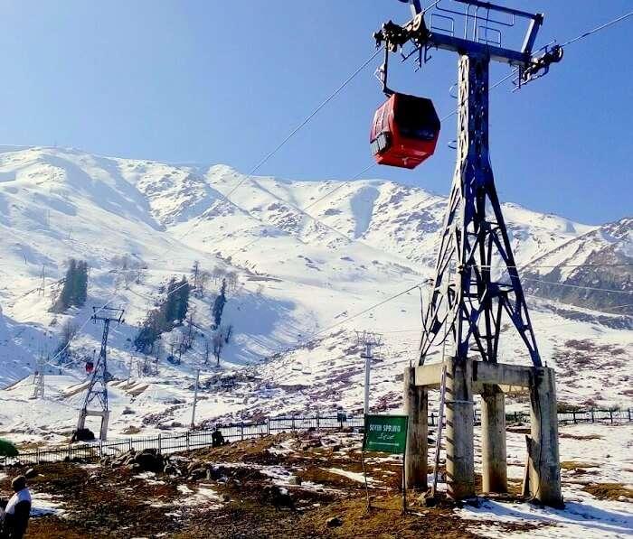 Gondola cable ride in Gulmarg