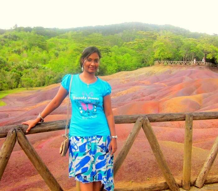 Karthiks wife in Chamarel