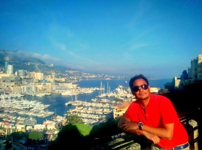 Niket doing sightseeing in Monte Carlo