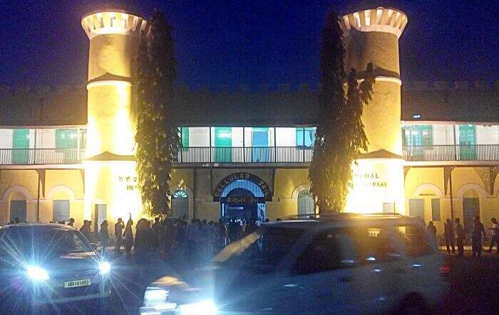 Light and sound show at the cellular Jail in Andaman