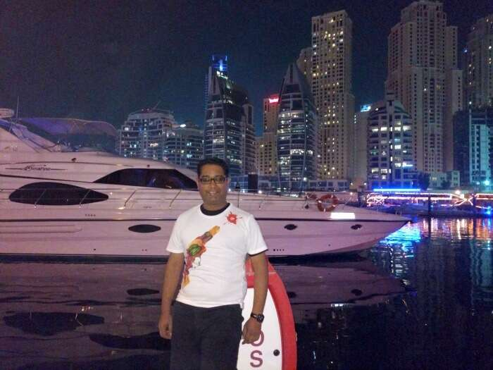 Ojas chilling at the Dubai Creek