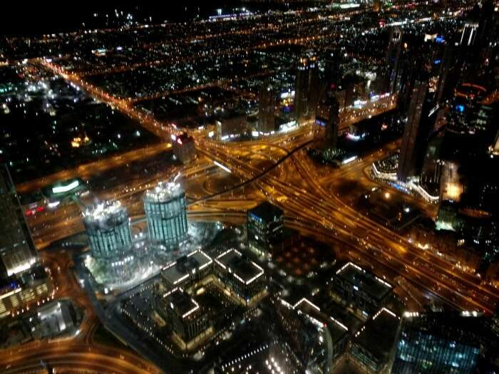 Mesmerizing view from the 24th floor of Burj Khalifa