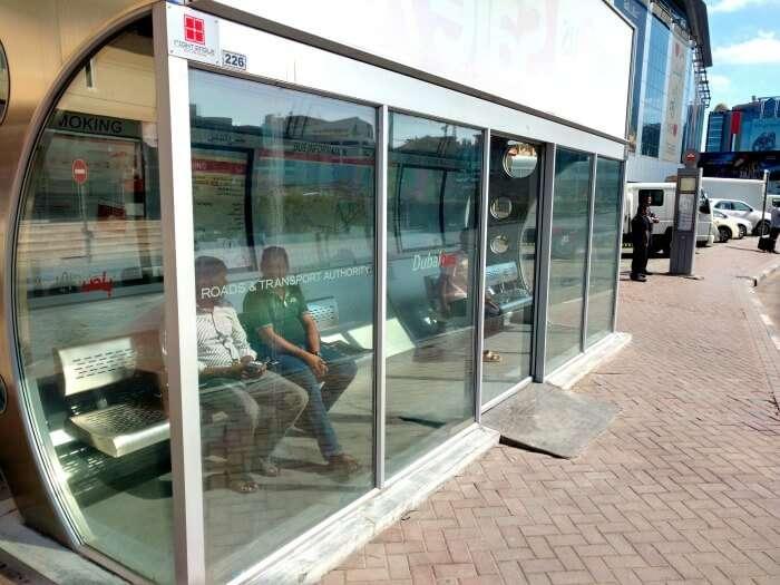 Bus stop in Dubai