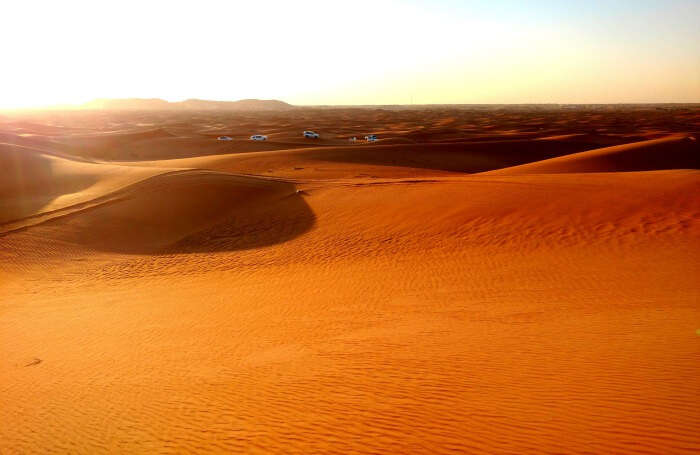 A mind blowing shot of the desert safari in Dubai