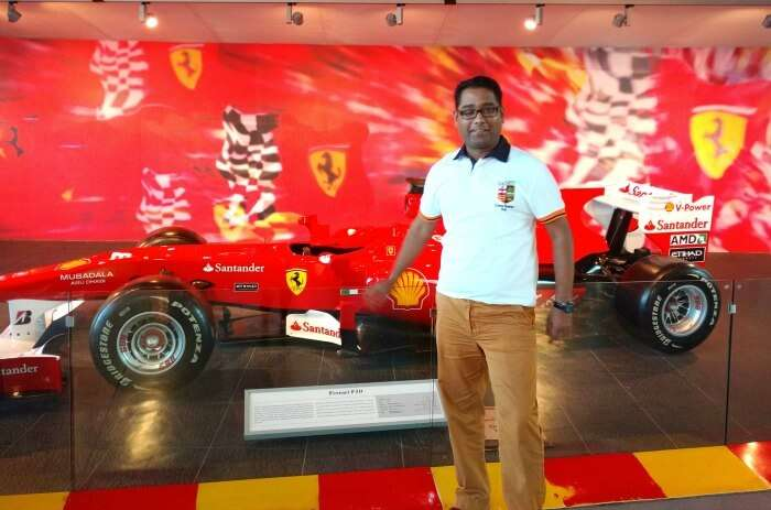 Ojas at the Ferrari world in Dubai