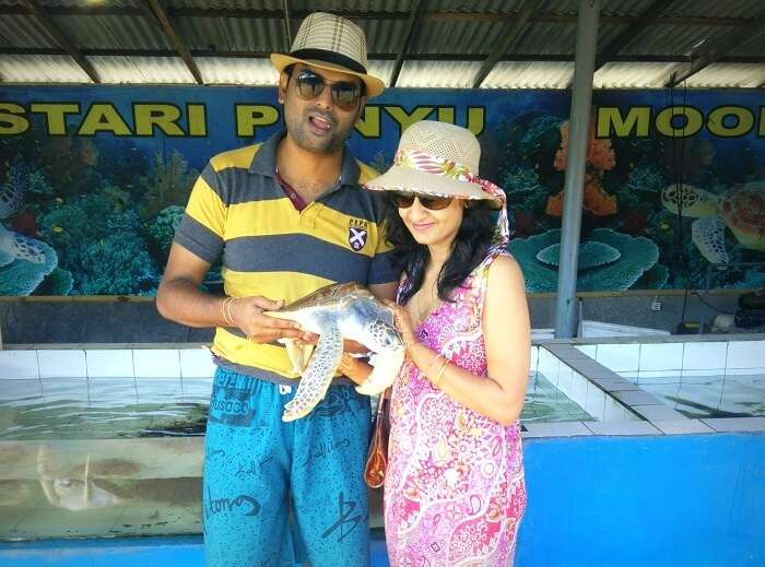 At the Turtle Island, Bali