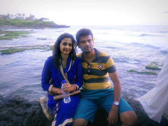 At the beach beside Tanah Lot Temple