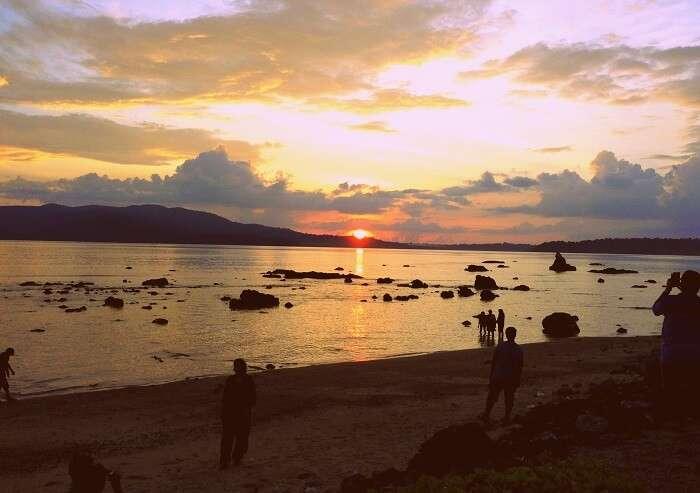 mesmerising sunset at Chidiya Tapu