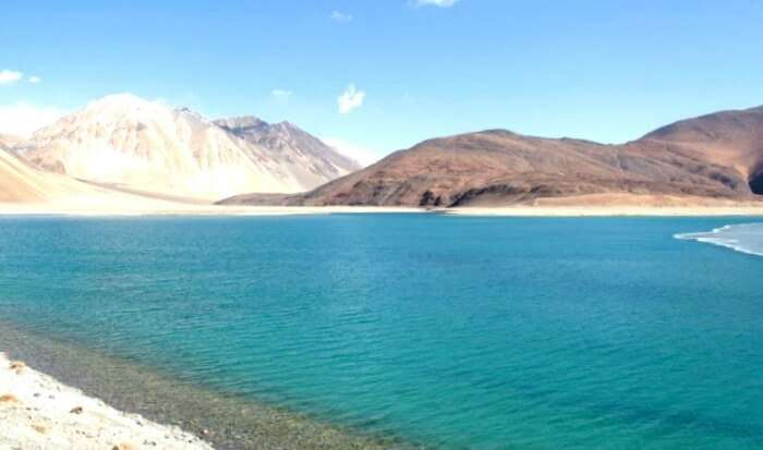 View of the Pangong Lake in Ladakh