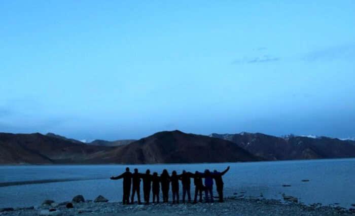 The beautiful Pangong Lake