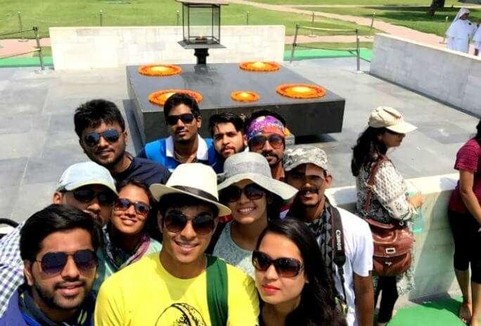 Chilling at Raj Ghat in Delhi