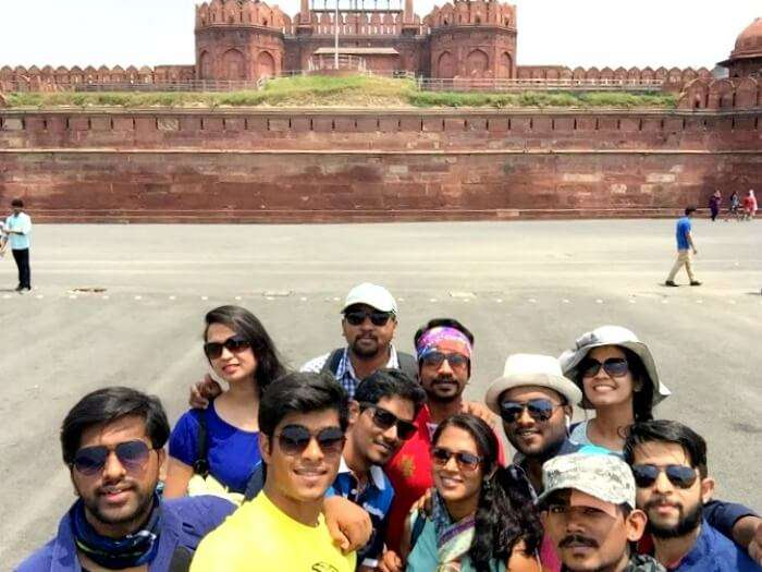 Red Fort Tourist places in Delhi