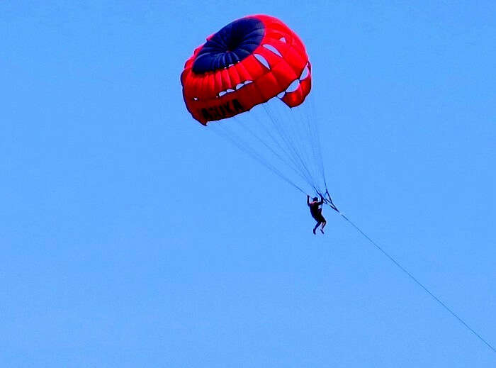 Parasailing in Bali at Benoa Beach