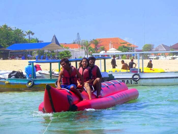 Banana boat ride on the Benoa beach
