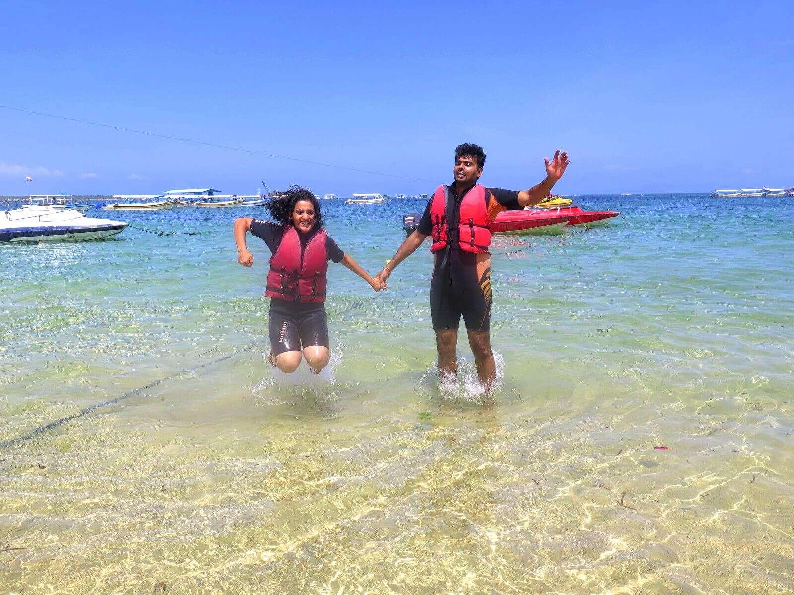Water adventures in Benoa beach