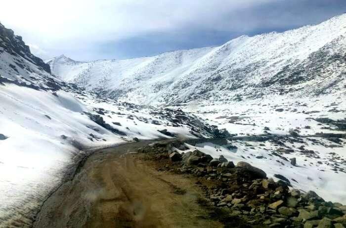 Snow in Ladakh