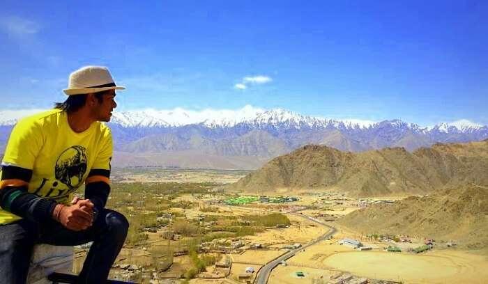Nikhil on his road trip to Ladakh