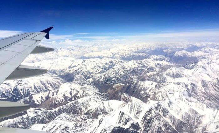 Snow covered peaks in Ladakh