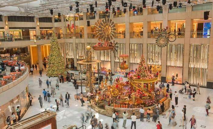 Innovative Christmas decor at Landmark in Hong Kong