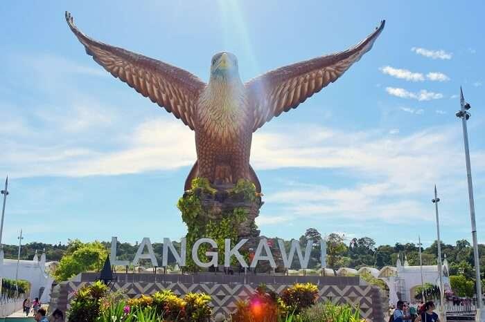 Langkawi island statue