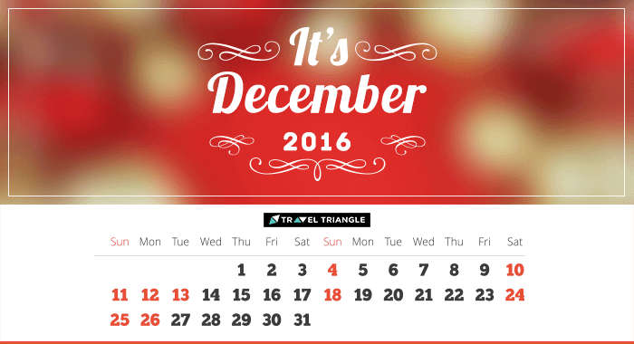 List of all the long weekends in December 2016