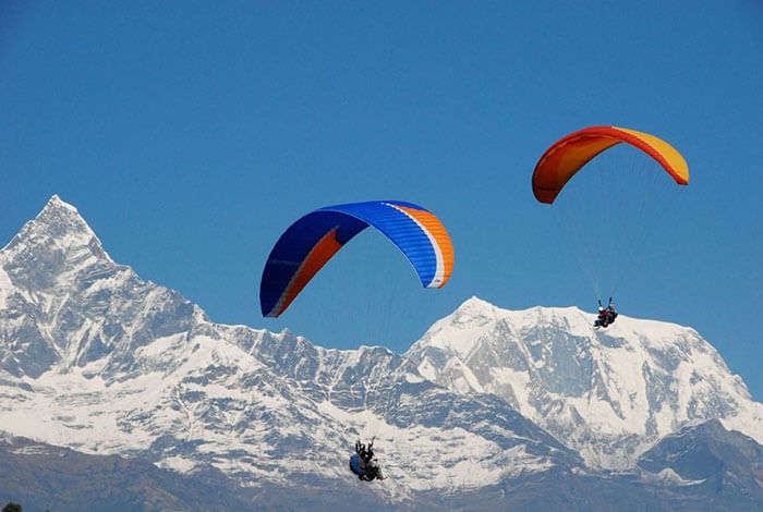 Enjoy adventure activities at Solang Valley like paragliding