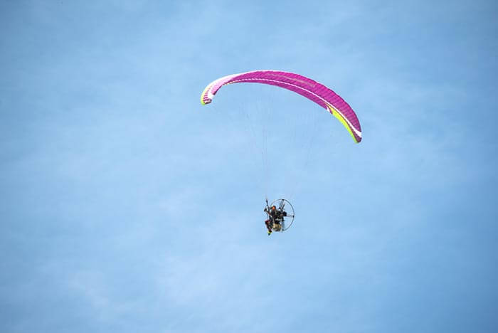 Paramotoring, a among the must things to do in Phuket