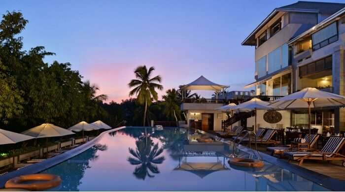 Infinity pool at Turtle on the Beach in Thiruvananthapuram