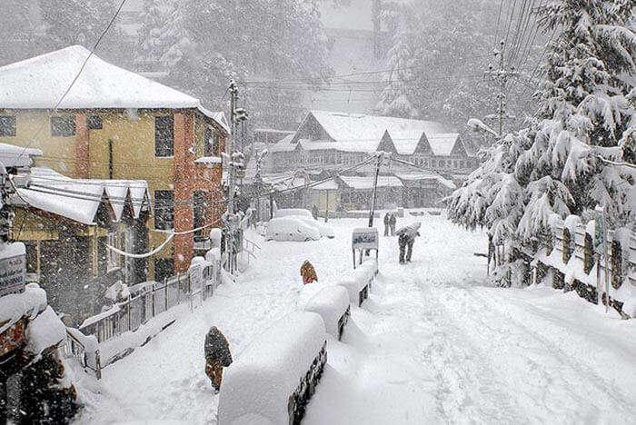 Snow-capped Dalhousie in Himachal Pradesh