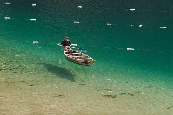 Crystal clear water of Dawki river