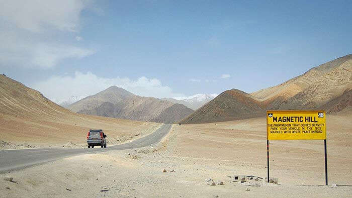 The Magnetic Hill of Ladakh, one of the mysterious places of India