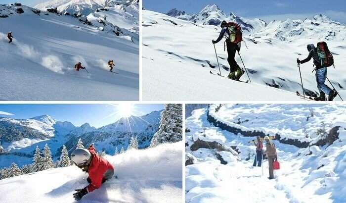 Snowtrekking, skiing, and snowboarding at Munsiyari