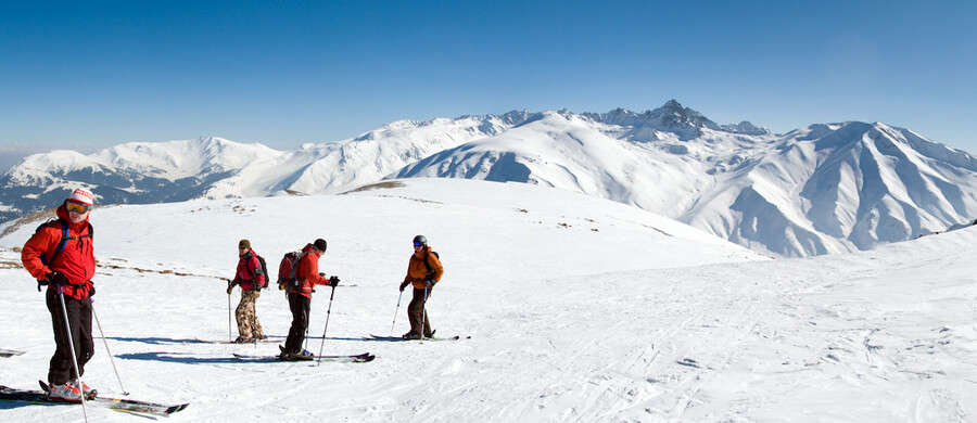 Skiing in India can be enjoyed in the quaint valley of Gulmarg