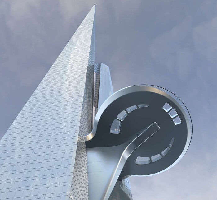 One of the three sky lobbies that will be there in the Kingdom Tower