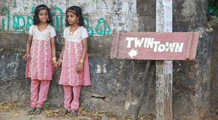 A pair of twins at the Twin Town of Kodinhi