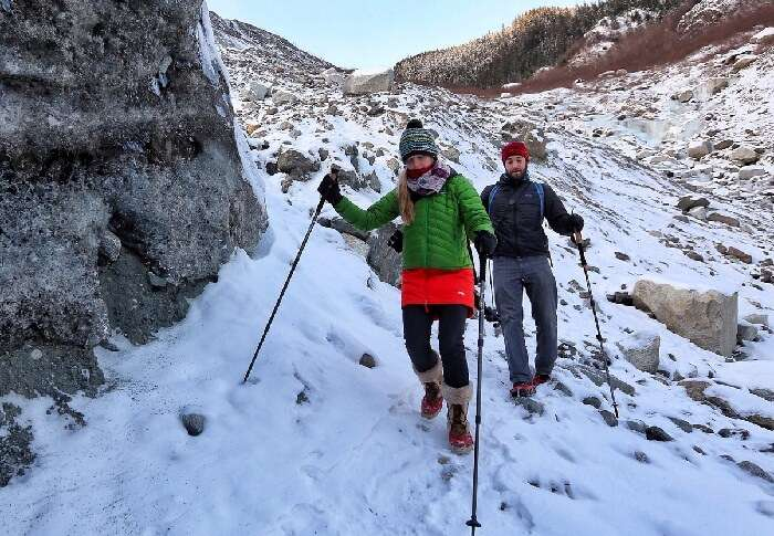 Trekkers use trekking pole
