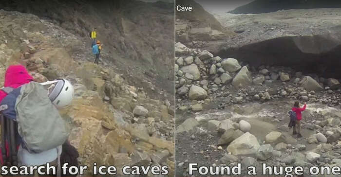 Finding an ice cave involves a long search for the same