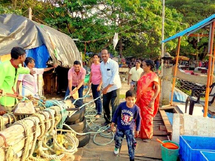 Chinese fishing nets in Kerala