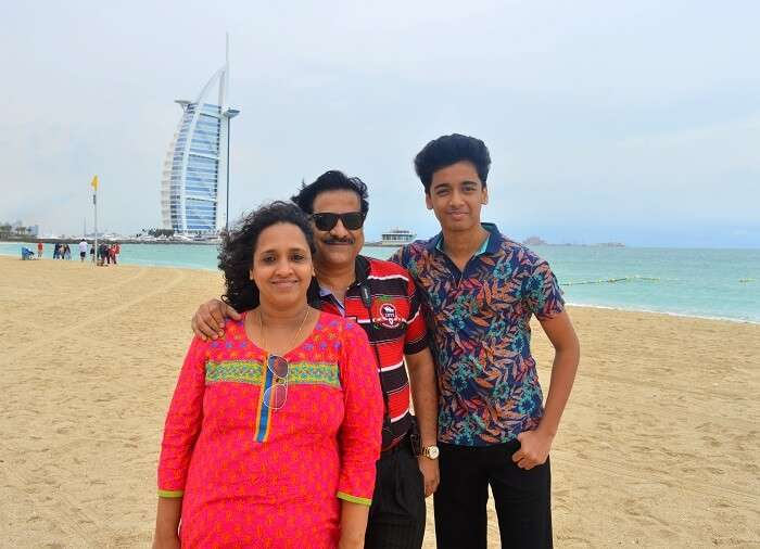 Raman's family in Dubai